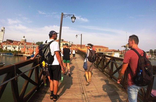 in the bridge in Venice_